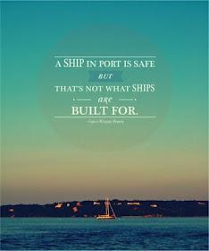 Een mooi start punt: uit je veilige haven varen en ontdekken waar je naartoe wilt of moet.