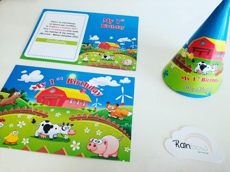 #Farm #animals #party #invitation #firstbirthday