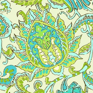 Amy Butler - Soul Blossoms Voile - Dancing Paisley in Limestone