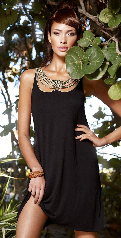 Maryan Mehlhorn 2014 Maori Black Dress