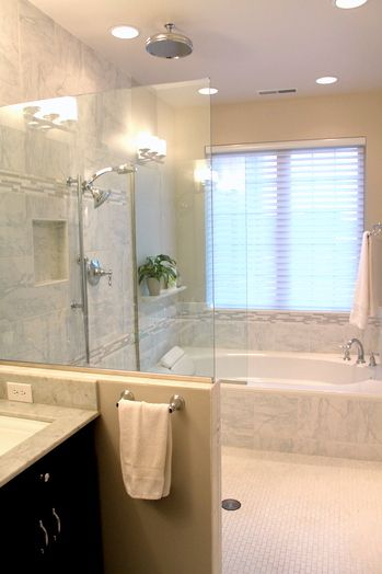 Walk In Shower With Tub Google Search Small Bathroom