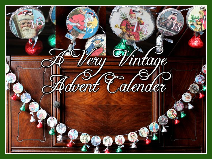 Too early to start Christmas crafts? A Very Vintage Advent Calender DIY Tutorial