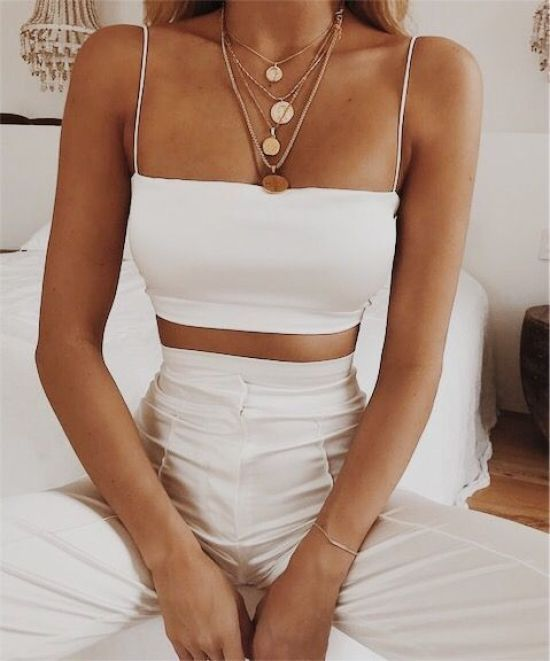 10 All-White Outfits You'll Want To Get On Board With This Summer