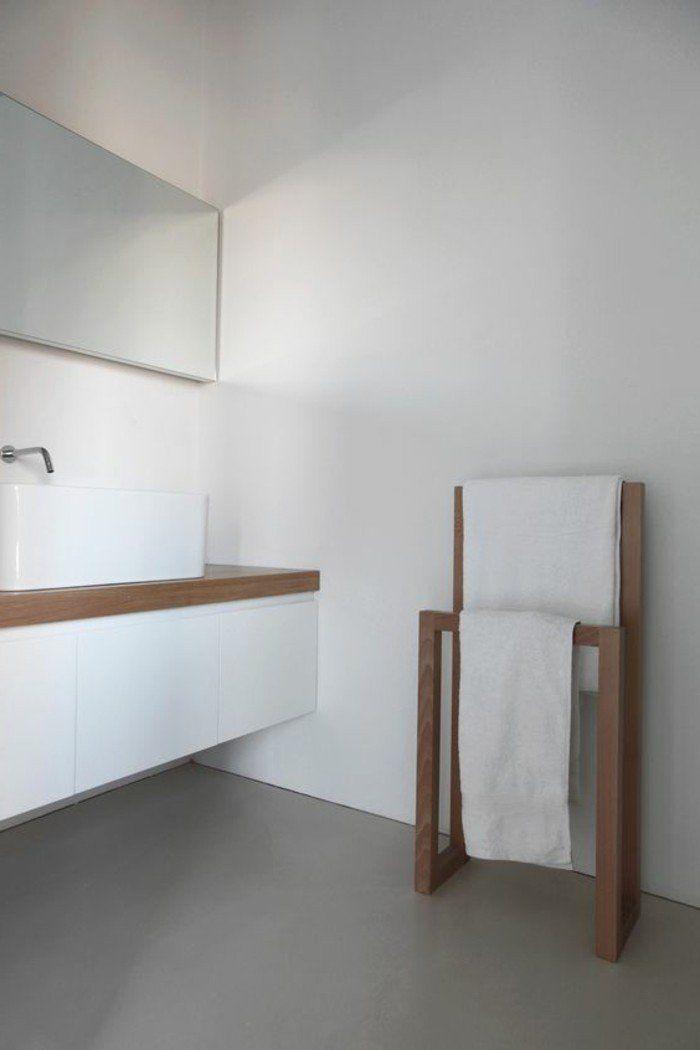 19 best Bathroom Shelves images on Pinterest Bathroom shelves - porte serviette salle de bain design