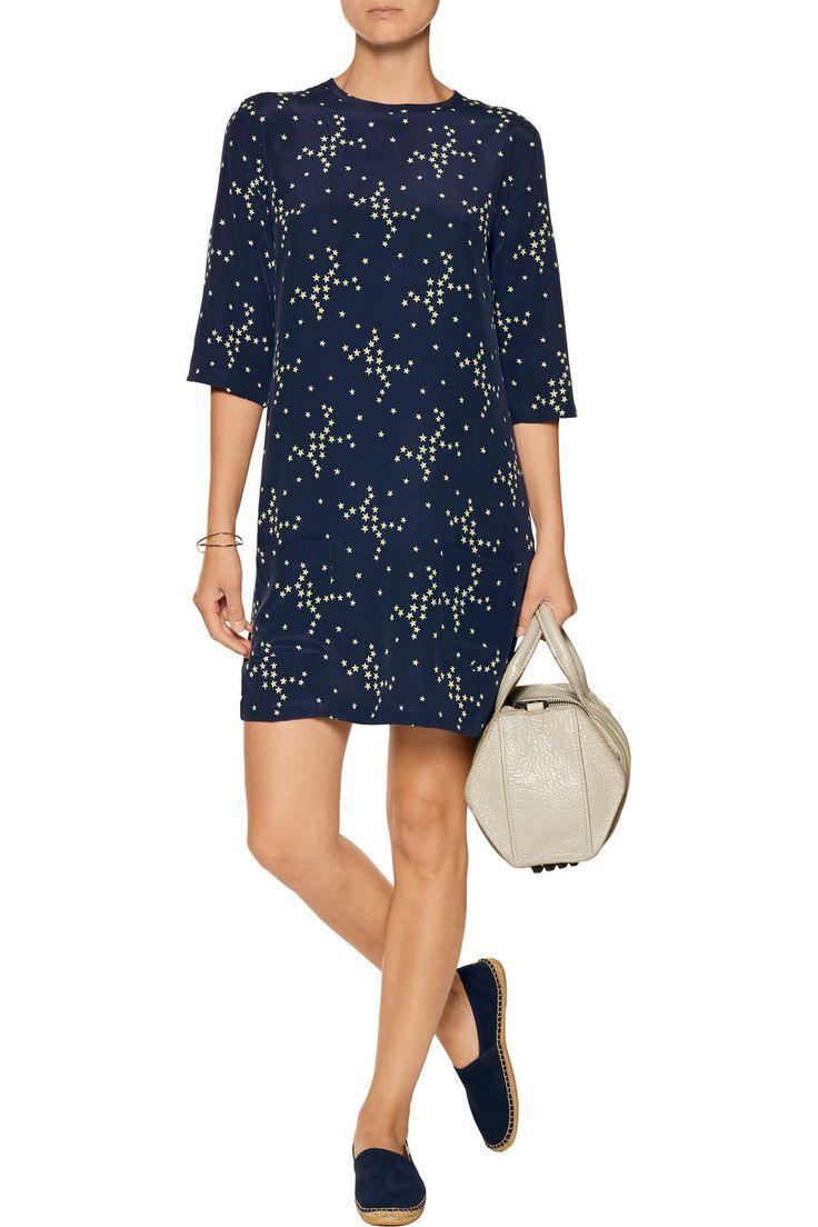 EquipmentAubrey star-print washed-silk mini dressfront