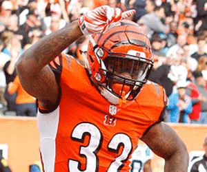 Bengal's Rookie Jeremy Hill does Ickey Shuffle