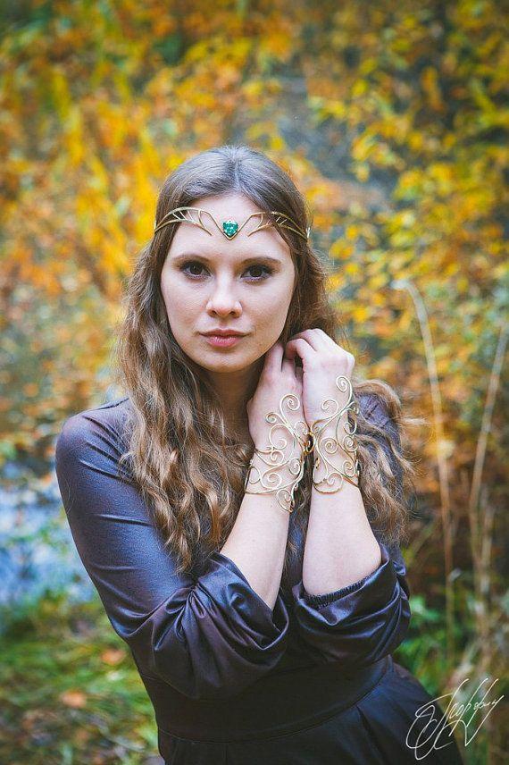 Fairy Elven crown Bridal headpiece tiara elvish wedding diadem Ondine