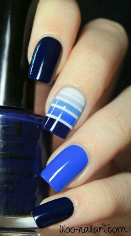 trendy summer nail art idea
