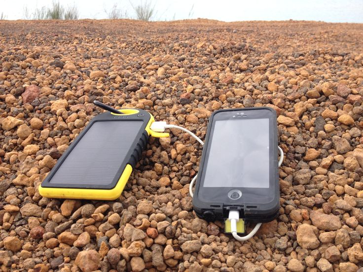 #Solar charging an iPhone. #camping #solarcharger 5K