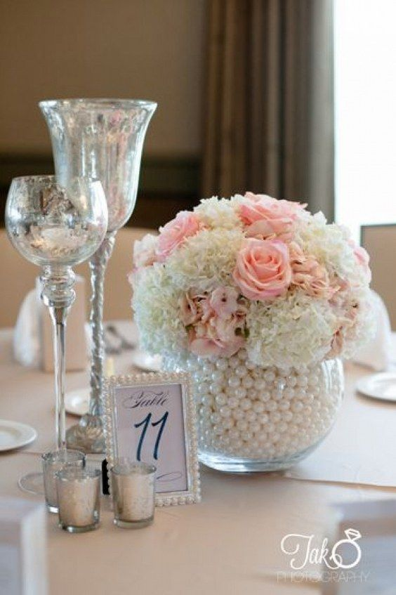 Best pearl centerpiece ideas on pinterest lace vase