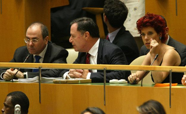 Here they are at the United Nations in New York in 2003 with the Israeli U.N. Ambassador.   Wife Of Israeli Minister Apologizes For Racist Obama Tweet