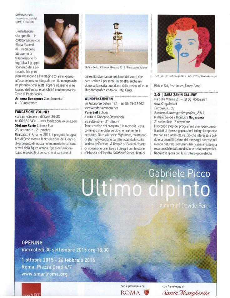 Sul numero di Arte e Critica City è presente un articolo riguardo la nostra mostra! (pagina 1)
