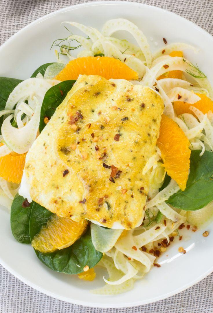 #Epicure Curried Fish & Fennel Salad #portioncontrol