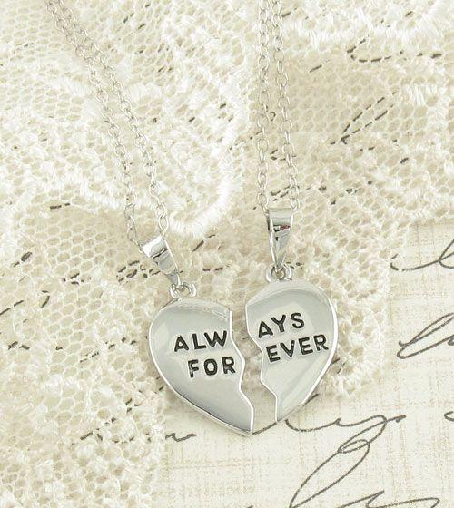 Always Forever Split Heart Necklace in Sterling Silver, @wootandhammy