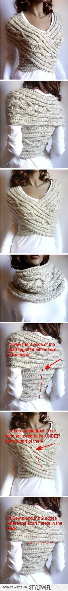 Infinity scarf / sweater vest
