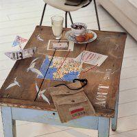 Une table basse comme une carte au trésor