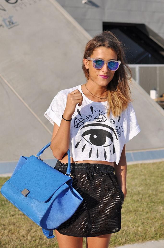 I spot an evil eye - Evil eye; Mirrored sunglasses; Celine; Mekdes; Maje Source: Trendy crew