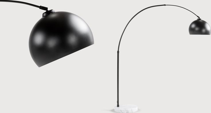 Bow Large Floor Lamp, Black and White Marble from Made.com. Express delivery. The Bow lamp is a Made.com favourite so we've given it a matt black fi..