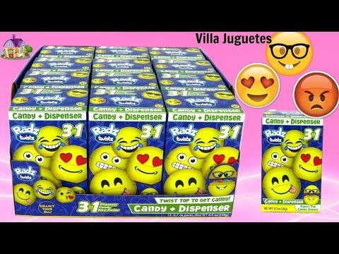 (1247) 12 Dispensadores de Dulce de los Emojis Dispensador, Dulces y Mini Poster - YouTube
