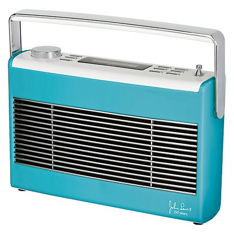 Aston DAB/FM radio from John Lewis (also in pink and spearmint)