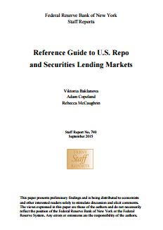 Reference Guide To U.S. Repo And Securities Lending Markets
