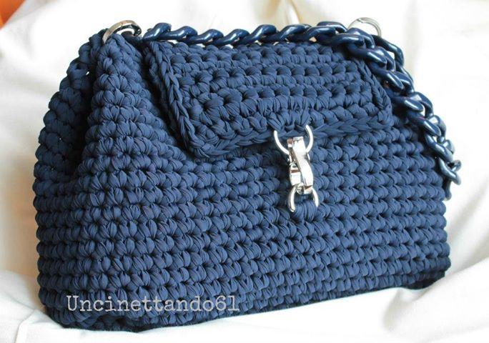 bolso de trapillo crochet