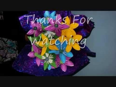 Buket Bunga Kertas - YouTube