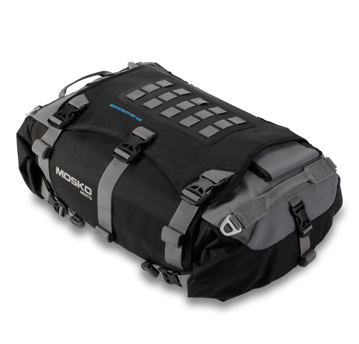Backcountry Duffle is available in two sizes, a 40L version & 30L version. This moto-duffle does it all: it's a duffle, backpack, a quick-stash spot during the day. It keeps your wet jacket separate from your dry sleeping bag.It serves as a clean food prep surface next to the campfire and a convenient tool tray for roadside field repairs. It fits the airline carry-on restrictions. #MoskoMoto #dualsport #motorcycles #motorcycle #luggage #gear #travel #packs #moto