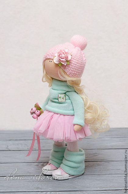 Коллекционные куклы ручной работы. Ярмарка Мастеров - ручная работа. Купить Алиса. Handmade. Мятный, Декор, тыквоголовка, хлопок с акрилом