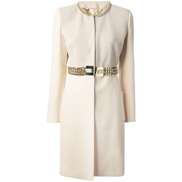 ELISABETTA FRANCHI belted trench coat found on Polyvore