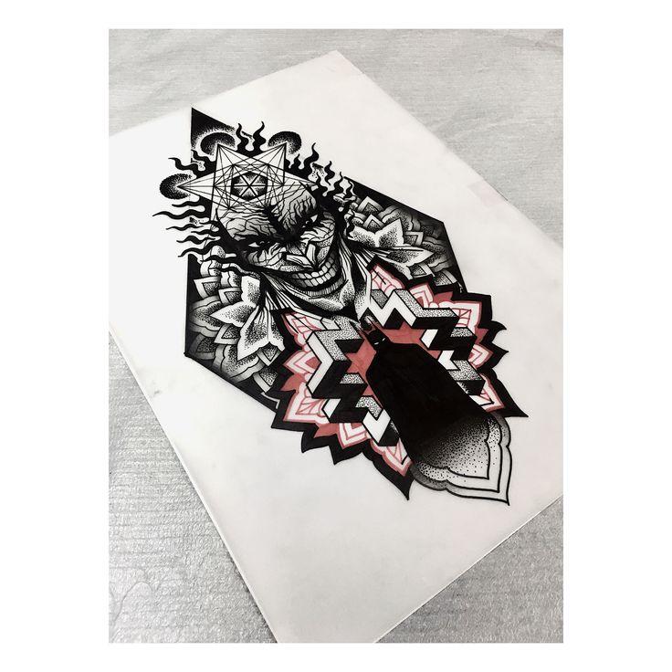 Joker custom design by Boss667 at Athens tattoo studio