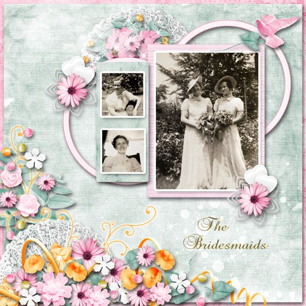 The Bridesmaids by Tbear. Kit used: Simple Pleasures http://scrapbird.com/designers-c-73/d-j-c-73_515/jessica-artdesign-c-73_515_554/simple-pleasures-by-jessica-artdesign-p-16565.html