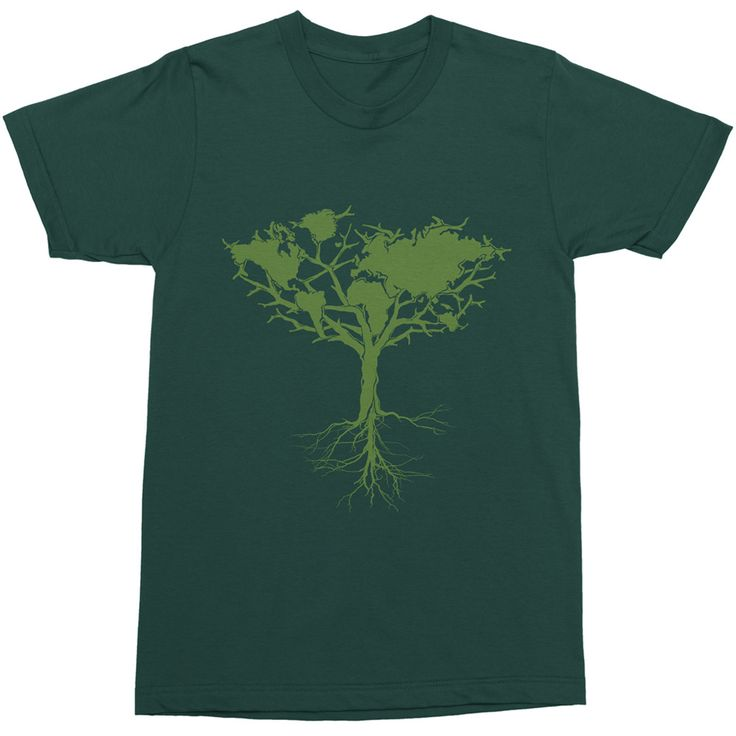 100% COTTON T-SHIRT  EARTH TREE CLASSIC