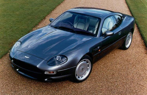 Louis's new car. Aston Martin DB7.