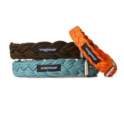 Braided Dog Collar and Leash l Wagwear - Olive
