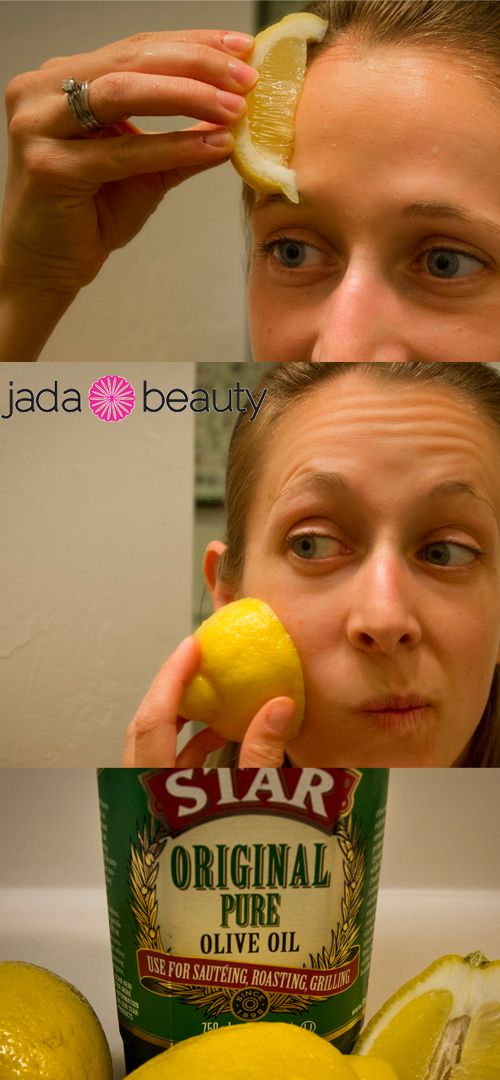 Rub a sliced lemon on your face. Rub on your nose to get rid of blackheads. This also helps with cleaning pores.