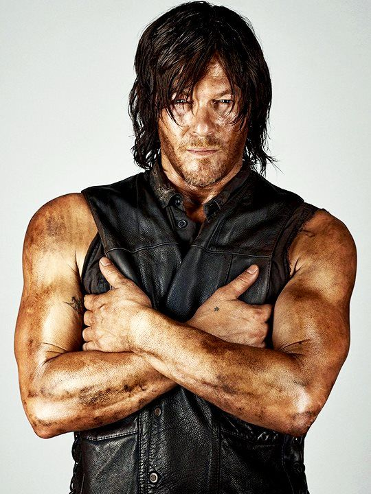 Norman Reedus. I love this picture! How can a man look so good so filthy?!