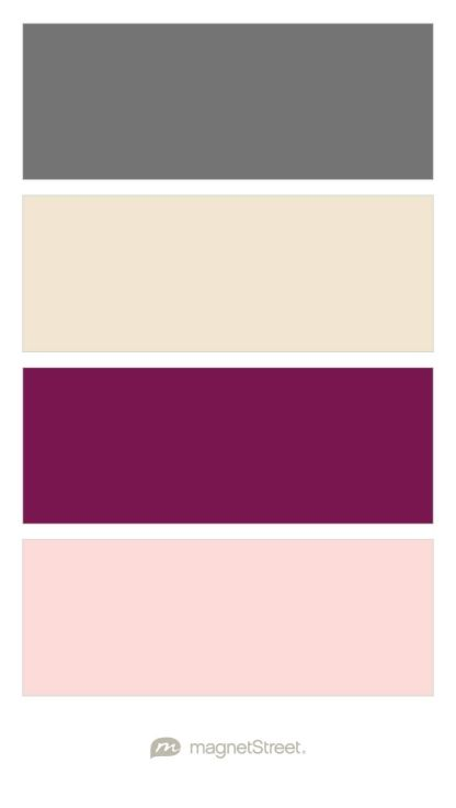 Charcoal, Champagne, Sangria, and Teaberry Wedding Color Palette - custom color palette created at MagnetStreet.com