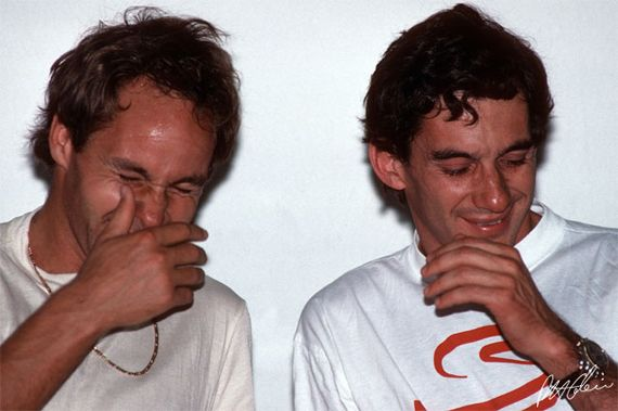 Gerhard Berger and Ayrton Senna