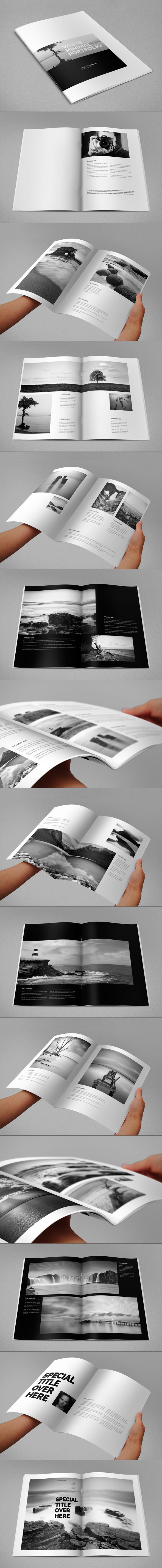 White Minimal Portfolio. Download here: http://graphicriver.net/item/white-minimal-portfolio/8325211?ref=abradesign #design #brochure #portfolio