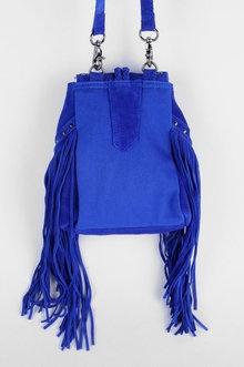 fringe cobalt blue handbag