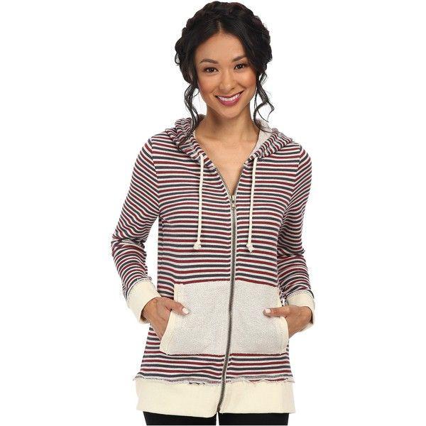 Chaser Zip-Up Tunic Hoodie Women's Sweatshirt, Multi ($43) ❤ liked on Polyvore featuring tops, hoodies, multi, white hoodies, sweatshirt hoodie, zip up hooded sweatshirt, pullover hooded sweatshirt and white sweatshirt