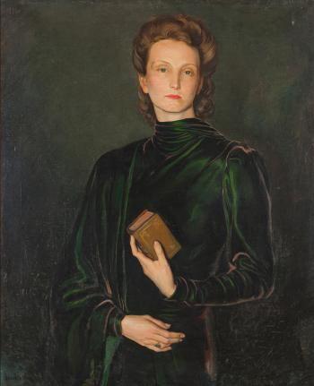 Eduardo Malta ~ Retrato da Baronesa Hildegard von Breisky