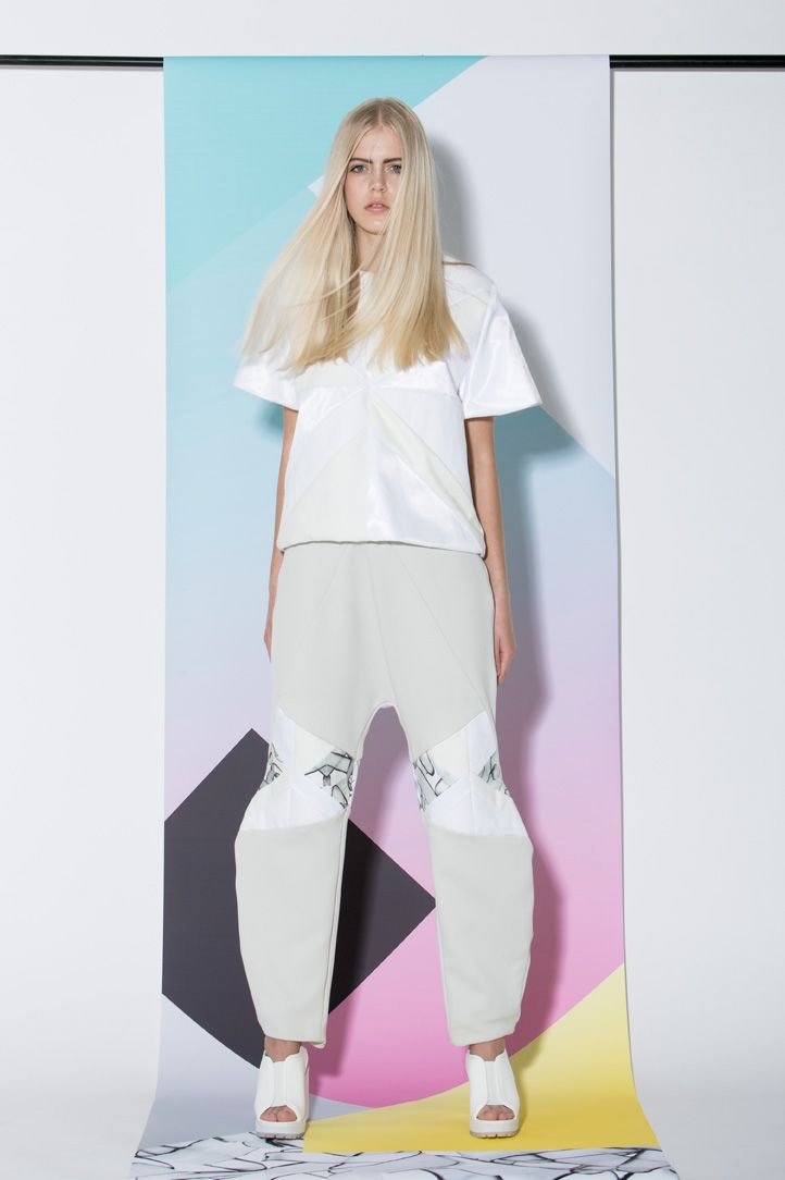 Top and trousers from AGURK SS14 Collection. Fresh Scandinavian fashion brand designs cool feminine streetwear. Editorial fashion photoshoot. #scandinavian #streetwear #fashion #danishdesign #femininestreetwear