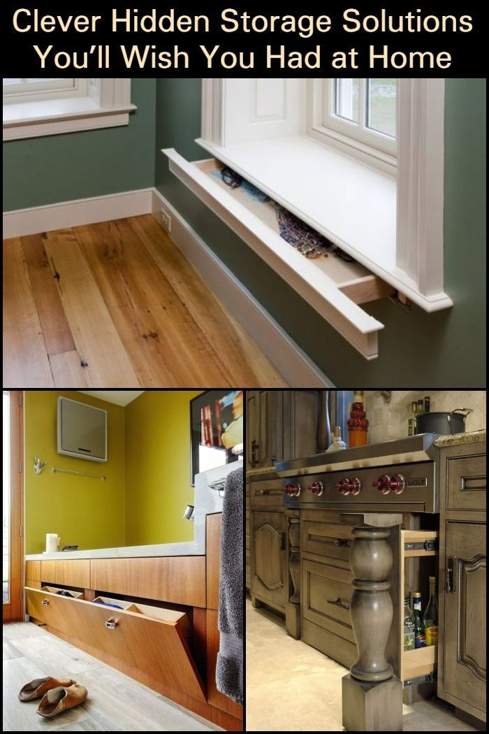 Clever Hidden Storage Solutions You Ll Wish You Had At Home
