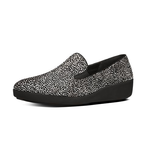 FitFlop F-Pop Skate Black Mix in Pony Hair | Official FitFlop Store