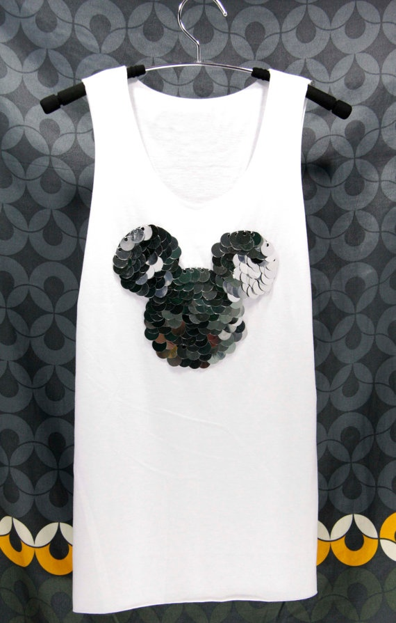 MICKEY MOUSE disney T Shirts Tank Top sleeveless by OrinocoShop, $19.99