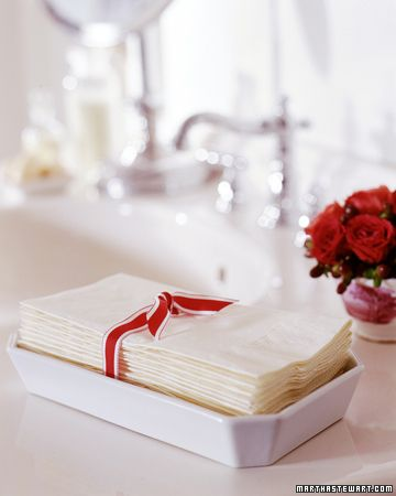 Prepping for House guests: Napkin Towels: Give house guests five-star treatment by