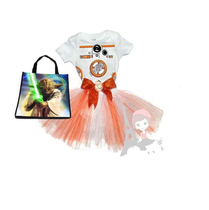 BB8 Tutu set - Star Wars BB-8 Force Awakens by AlyssaParisDesigns on Etsy https://www.etsy.com/listing/250083130/bb8-tutu-set-star-wars-bb-8-force