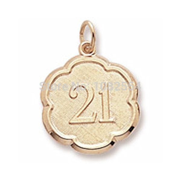 Оптовая 21-ый День Рождения Прелести Номер 21 Золото Тон Ювелирные Изделия